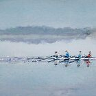 """Sculling at Bewl Water"" by LorusMaver"