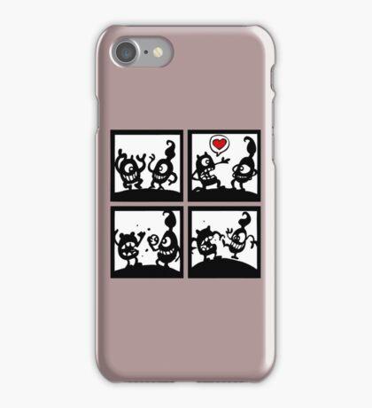 love is blind funny cartoon comics iPhone Case/Skin