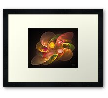 'Light Flame Abstract 157a' Framed Print