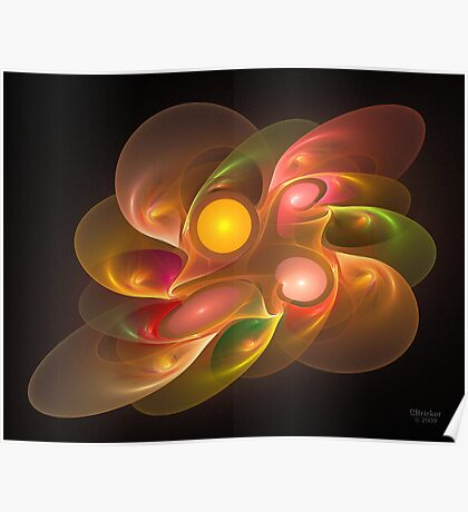 'Light Flame Abstract 157a' Poster