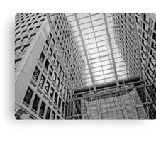Grid Tones of Gray Canvas Print