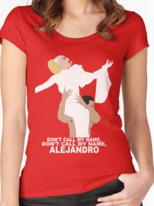 Lady Gaga Alejandro Women's Fitted Scoop T-Shirt