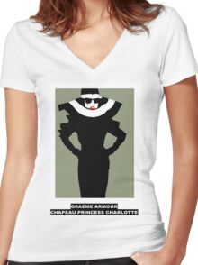 Lady Gaga Graeme Armour Women's Fitted V-Neck T-Shirt