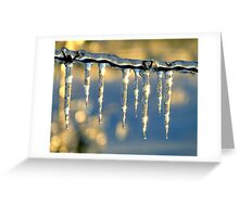 Ice on a Wire Greeting Card