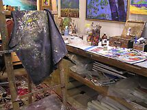 My playroom [arty work studio]partly[ the tidy part][joke] by Virginia McGowan