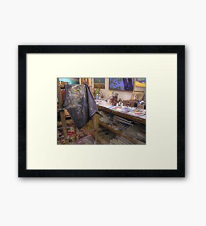 My playroom [arty work studio]partly[ the tidy part][joke] Framed Print