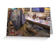 My playroom [arty work studio]partly[ the tidy part][joke] Greeting Card