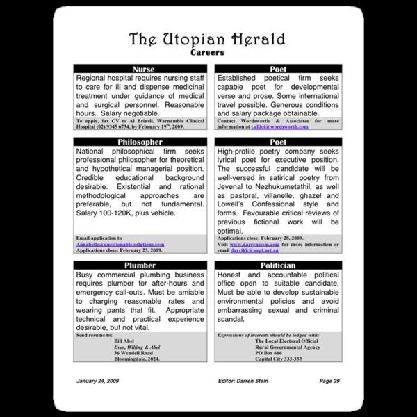 Utopian Herald by Darren Stein