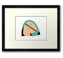 Abstract muted '80s 08 Framed Print