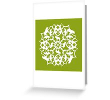 Spotted Hyena ZOOFLAKE Greeting Card