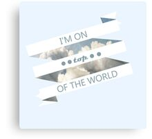 top of the world white ribbon Canvas Print