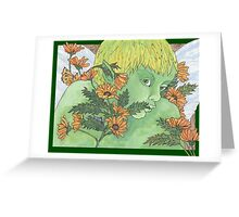 Green Fairy Greeting Card