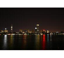 Boston, Back Bay at night Photographic Print