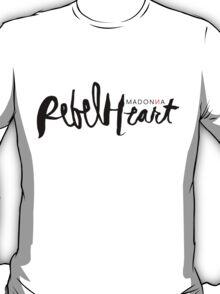 Madonna Rebel Heart Logo BLK T-Shirt
