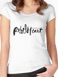 Madonna Rebel Heart Logo BLK Women's Fitted Scoop T-Shirt
