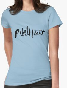 Madonna Rebel Heart Logo BLK Womens Fitted T-Shirt