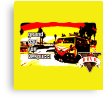 GTA V Vespucci Beach Design Canvas Print