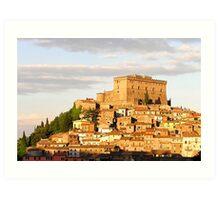 Castle Orsini , Soriano nel Cimino,  Italy. Art Print