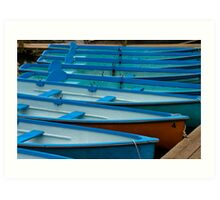 Boats for Hire Art Print