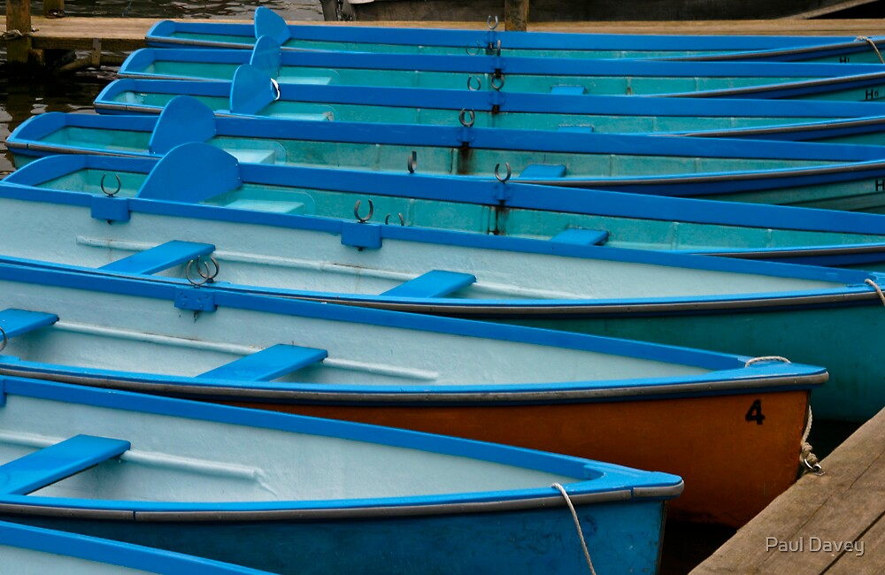 Boats for Hire by Paul Davey