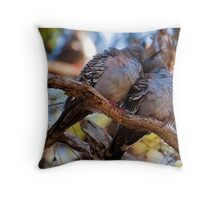 Snuggling Pigeons Throw Pillow