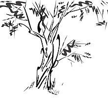 typographic tree by Martulia