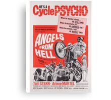 Angels from Hell (Red) Canvas Print