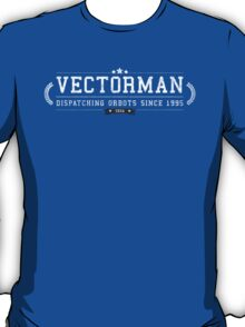 Vectorman - Retro White Dirty T-Shirt