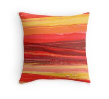 Flame Road 1 Throw Pillow