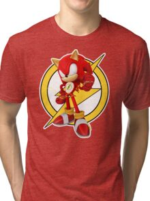 Sonic the Flash-Hog Tri-blend T-Shirt