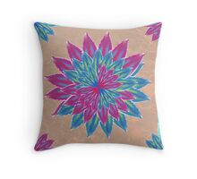 The floating flower Throw Pillow