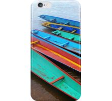 Boats on the Riverbank  iPhone Case/Skin