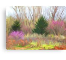 Impressions of Redbuds Canvas Print