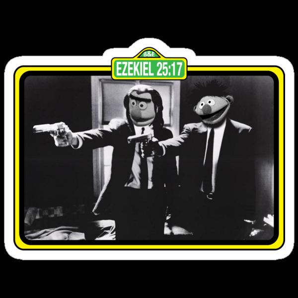 Pulp Fiction Bert & Ernie by James Lillis
