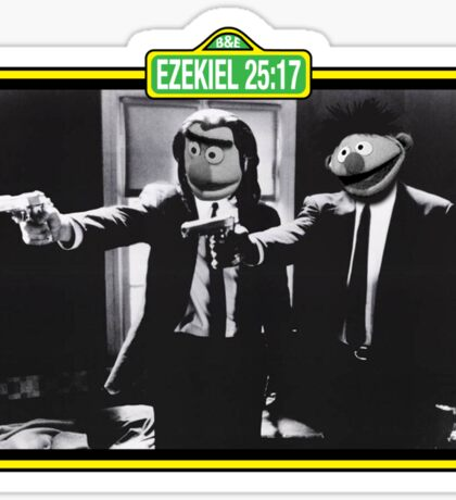 Pulp Fiction Bert & Ernie Sticker