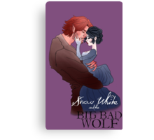 Snow White and the Big Bad Wolf Canvas Print