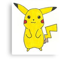 Pikachu Drawing Canvas Print