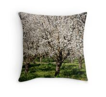 The Bloomin Orchards Of California Throw Pillow
