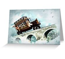 The Tabbytown Transport Greeting Card