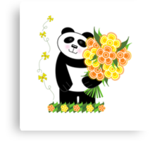 With Love Panda Canvas Print
