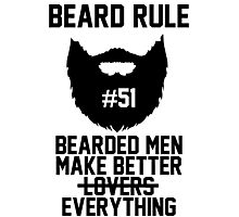 Beard Rule #51 Photographic Print