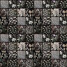 Faux Patchwork Quilting - Black by Gravityx9