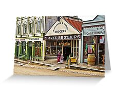 Sisters at Clarke Brothers - Main Street, Sovereign Hill Greeting Card