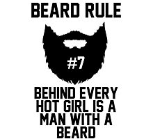 Beard Rule #7 Photographic Print