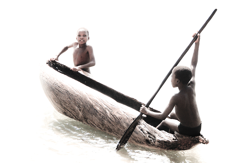 Native Canoe Play by Tim Cowley