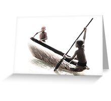 Native Canoe Play Greeting Card