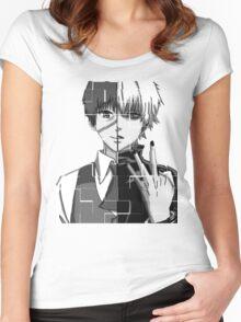 tokyo ghoul kaneki Women's Fitted Scoop T-Shirt