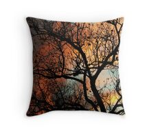 Thinking of You, Fire Tree Throw Pillow