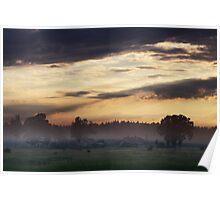 Sunrise of Spring in Village Poster