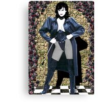 Girl in a Long Black Coat Canvas Print